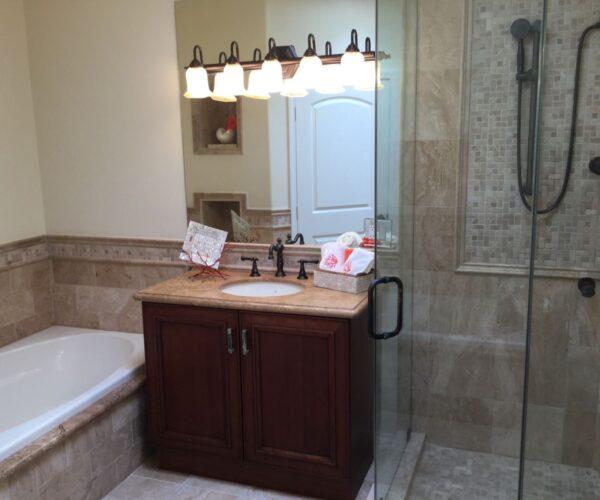 shower remodeling work